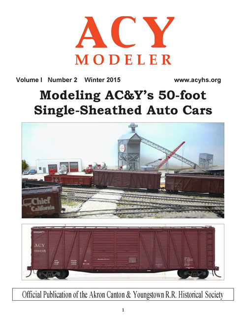 Winter 2015 issue of the ACY Modeler